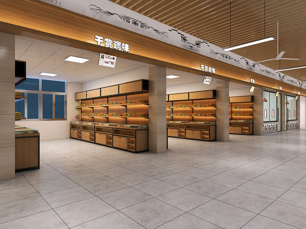 杭州高端农贸市场装修设计哪家好,点击咨询图片
